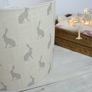 Grey Hares Handmade Lampshade - dining room