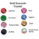 small Swarovski crystal colour options