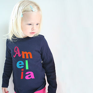 Baby And Child Personalised T Shirt With Letters