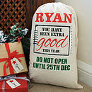 Personalised 'Extra Good' Christmas Sack