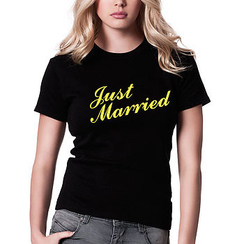 Just Married T Shirt