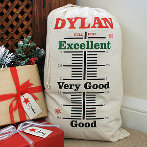 Personalised Measurement Christmas Sack
