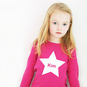 Personalised Name Star T Shirt