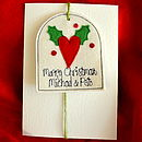 Personalised Christmas Heart Keepsake Card