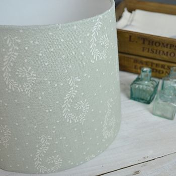 Handmade Shalini Linen Tapered Drum Lampshade
