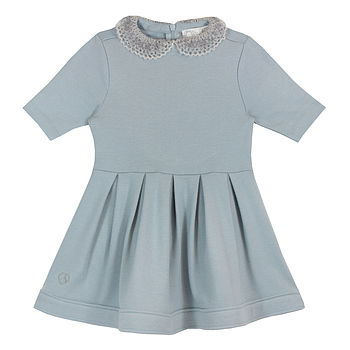 French Design Lace Peter Pan Collar Dress