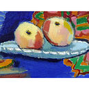 'Still Life With Peaches' Oil Painting