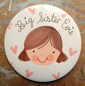 Personalised Big Sister Badge - children's jewellery