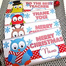 Christmas Owl Chocolate Bars