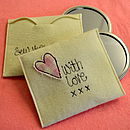 Personalised Gift Bag Pouch Love Heart