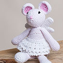 Hand Crochet Angel Mouse