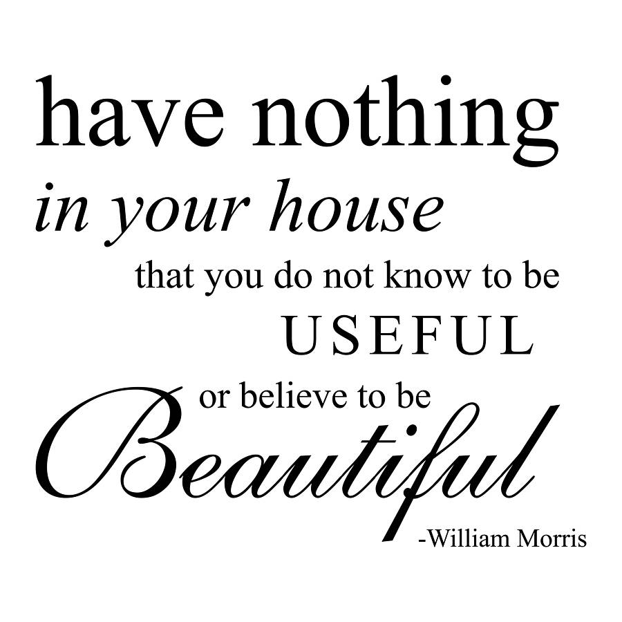 William Morris Wall Quote Sticker By Nutmeg