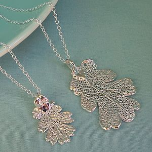Silver Oak Leaf Necklace - necklaces & pendants