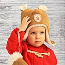 Personalised Sheepskin Hat & Mittens Gift Set