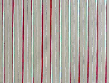 Malvern Grey Red Organic Cotton Fabric By The Metre