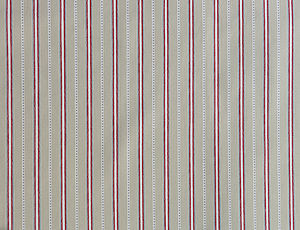 Malvern Grey Red Organic Cotton Fabric By The Metre - shop by price