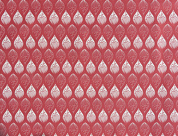 Isabella Red Organic Cotton Fabrics By The Metre