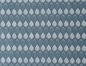 Isabella Blue Organic Cotton Fabric By The Metre - living & decorating