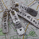Personalised Vintage Silver Cluster Necklace