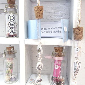 Wedding Message In A Bottle Handmade Necklace Gift - pins & brooches