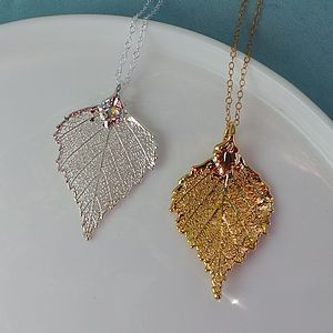 Birch Leaf Necklace - women's jewellery