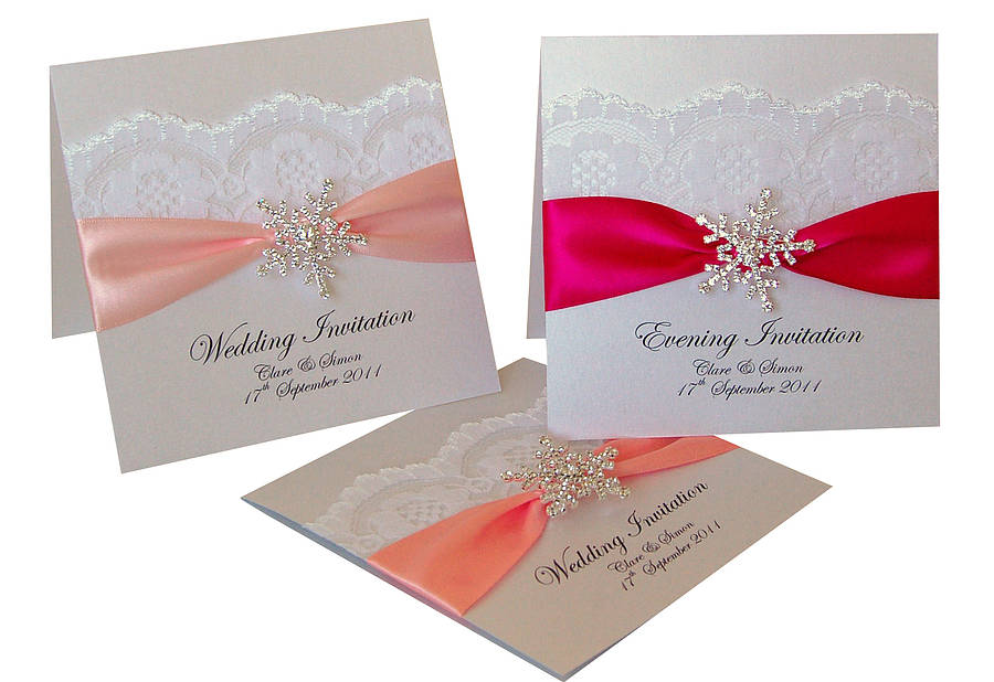 snowflake wedding invitations 10 pack by made with love designs ...