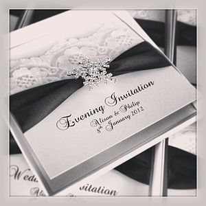 Snowflake Wedding Invitations 20 Pack - wedding stationery