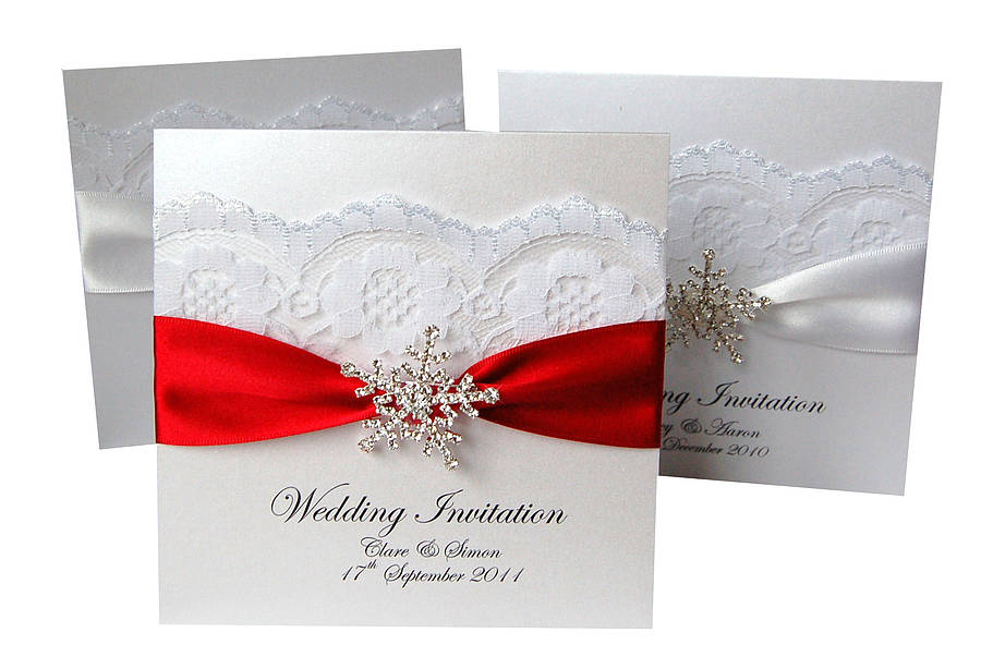 snowflake wedding invitations 20 pack by made with love designs ...