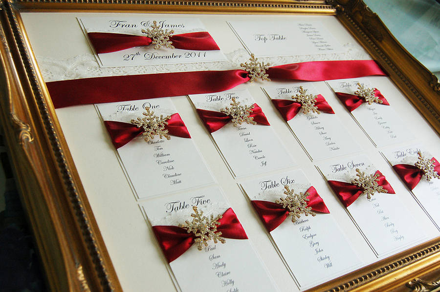 Snowflake Wedding Seating Plan Table