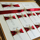 Snowflake Wedding Seating Plan Table Plan