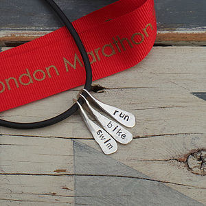 Triathlon Swim Bike Run Necklace - necklaces