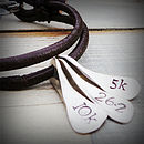 Triathlon Swim Bike Run Necklace