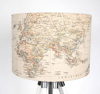 Around The World Fabric Lampshade Medium