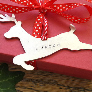 Personalised Metal Christmas Decoration