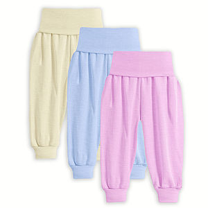 Organic Merino Wool And Silk Baby Trousers - nightwear