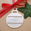 Personalised Metal Bauble Decoration