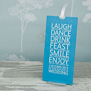 Smile Wallet Wedding Invitation