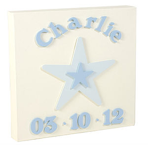 Christening/'New Baby' Date Canvas - shop by occasion