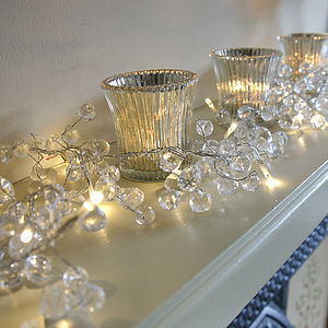 Clear Crystal LED Light Garland - lighting
