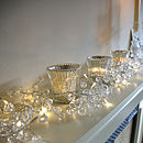Clear Crystal LED Light Garland