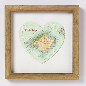 Majorca Map Heart Print