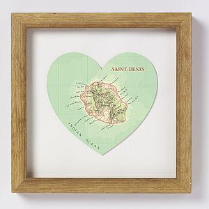 Saint Denis Map Heart Print