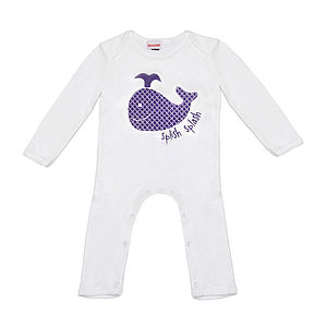 Balooba The Whale Romper And Sleepsuit - clothing