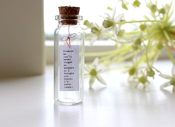 Tiny Message In A Bottle cheap gift ideas for teen girls