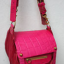 Hot Pink 'Magpie' Messenger Bag