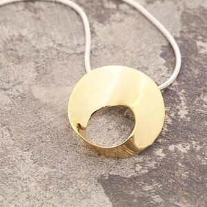Golden Wave Pendant On Snake Chain - women's jewellery