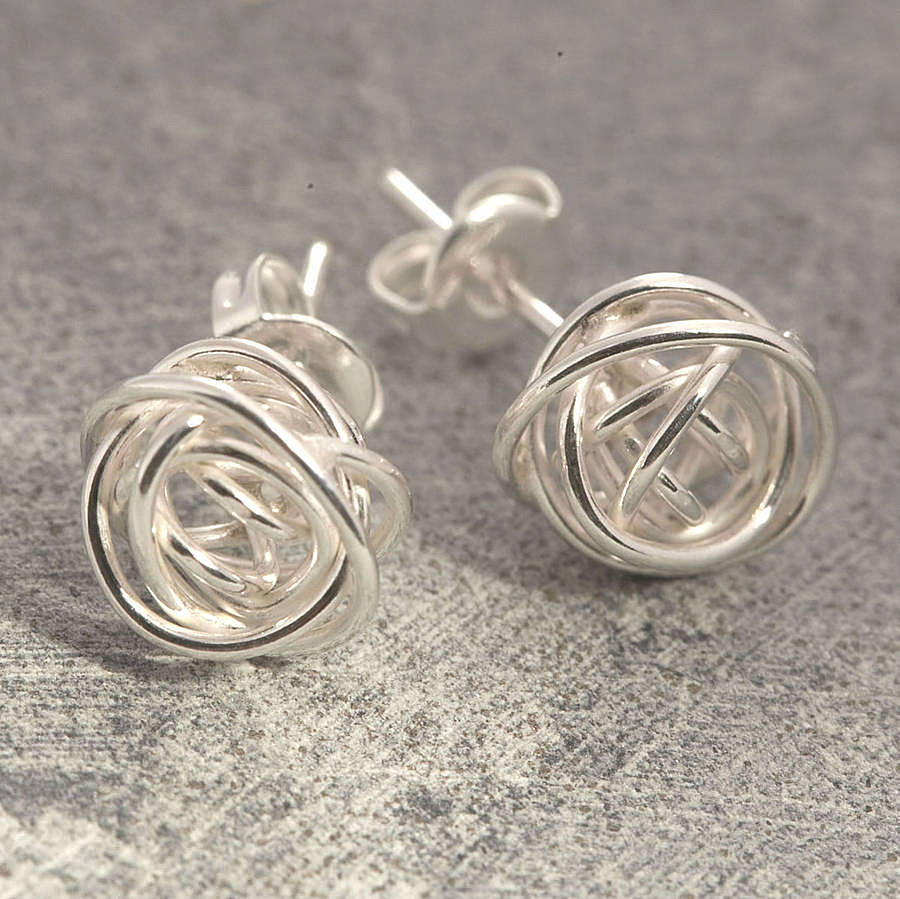 dangle lizardi tiny everyday drops simple sterling nickel drop jewellery free quatrefoil jewelry earrings handmade silver by small