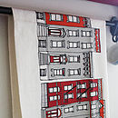 New York Brooklyn Houses Screen Printed Tea Towel
