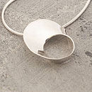 Wave Sterling Silver Necklace On Snake Chain