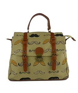 Dapper Moustache Doctors Handbag